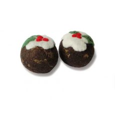 Christmas Puddings Needle Felt Kit