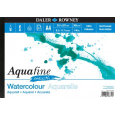 A4 Aquafine Smooth watercolour paper pad by Daler Rowney