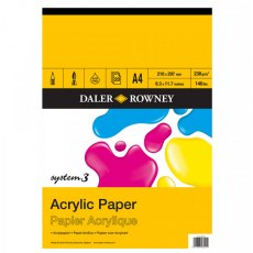 A4 System 3 Acrylic Paper Pad