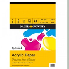 A3 System 3 Acrylic Paper Pad