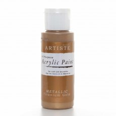 Artiste Acrylic Paint (2oz) - Metallic Titanium Gold