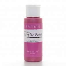 Artiste Acrylic Paint (2oz) - Metallic Rose