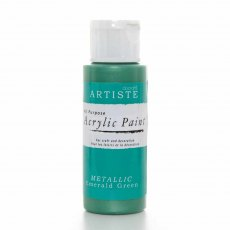 Acrylic Paint (2oz) - Metallic Emerald Green