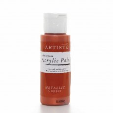 Artiste Acrylic Paint (2oz) - Metallic Copper