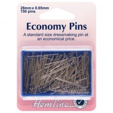 Economy Pins: Nickel - 28mm - 150pcs