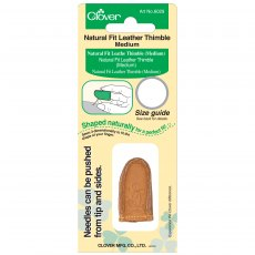 Thimble: Leather Natural Fit: Medium