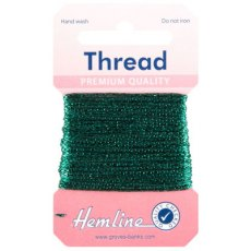 Glitter Thread: 10m - Bottle Green