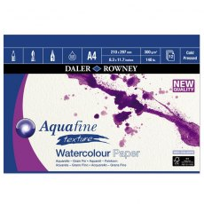 A4 Aquafine texture watercolour pad by daler rowney
