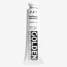 Golden Heavy Body Interference Blue Fine VII  Acrylic 59ml
