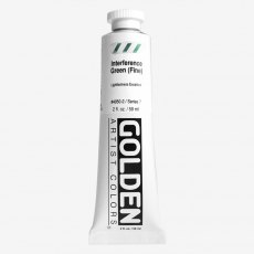 Golden Heavy Body Interference Green Fine VII  Acrylic 59ml