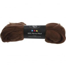 South American Merino Wool 21 Micron - Brown