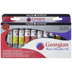 Daler Rowney Georgian Water Mixable Oil Set 10x 37ml tubes