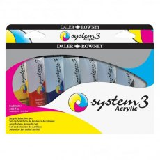 Daler Rowney System 3 Acrylic Process Colour Set of 6 x 59ml