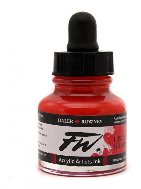 Daler Rowney Fw Ink 29.5ml Flame Red
