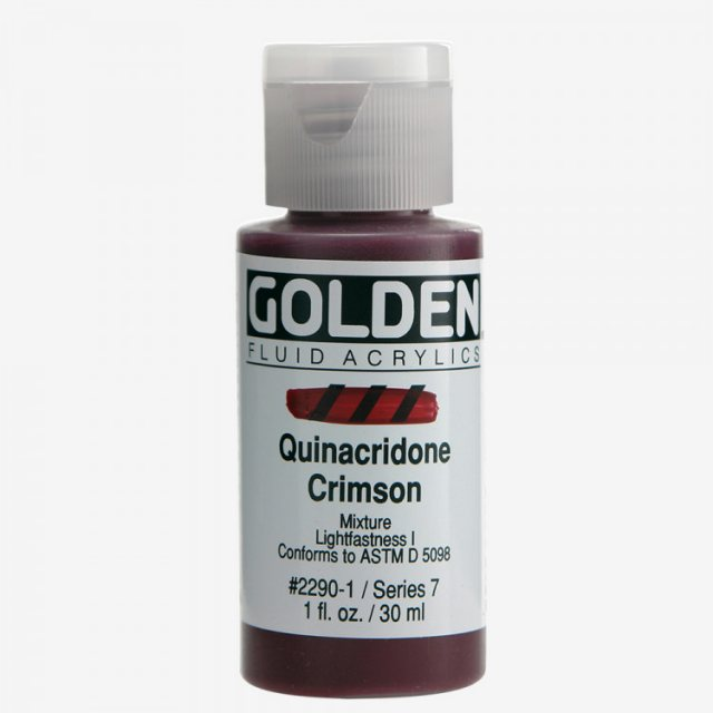 Golden Golden Fluid Quinacridone Crimson VII 30ml