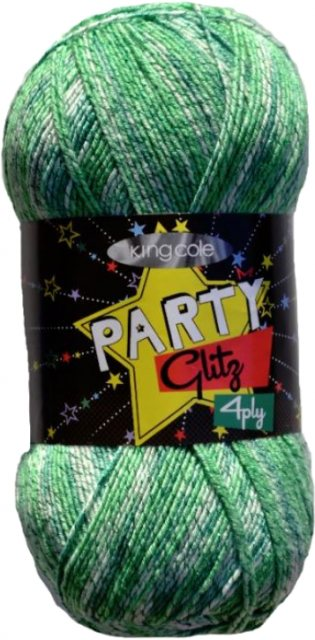 King Cole King Cole Party Glitz 4ply - Elf 100g